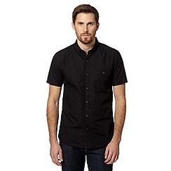Red Herring - Black plain short sleeved shirt