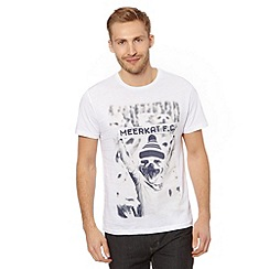 Red Herring - White meerkat football fan print t-shirt
