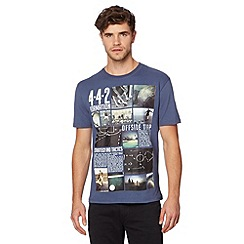 St George by Duffer - Blue football text t-shirt