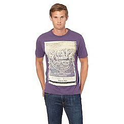 St George by Duffer - Purple 'Cycling Club' printed t-shirt
