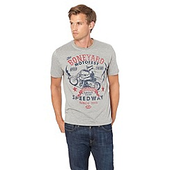 St George by Duffer - Grey 'Boneyard Motofest' printed t-shirt