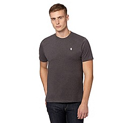 St George by Duffer - Big and tall dark grey plain crew neck t-shirt