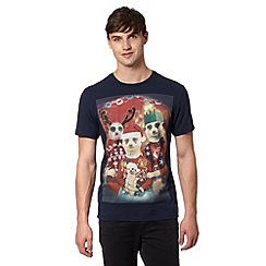 Red Herring - Navy meerkat family Christmas t-shirt