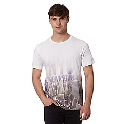 Red Herring - White New York City printed t-shirt