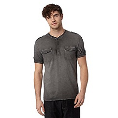 Red Herring - Grey oil wash t-shirt