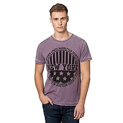 Red Herring - Purple 'New York' print t-shirt