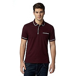 Red Herring - Dark red piped polo shirt