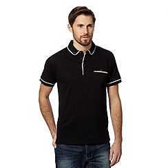 Red Herring - Black retro piped polo shirt