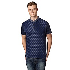 Red Herring - Blue floral spotted polo shirt