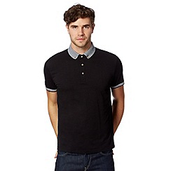 Red Herring - Black striped trim polo shirt