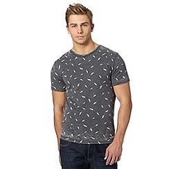 Red Herring - Dark grey lightning burnout t-shirt