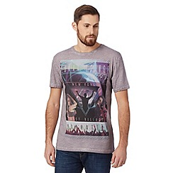 FFP - Big and tall purple 'club' print t-shirt