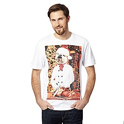 St George by Duffer - White dog chef Christmas t-shirt