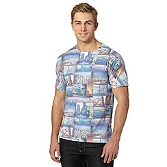 Red Herring - Grey city collage print t-shirt