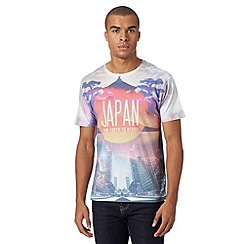 Red Herring - White 'Japan' printed t-shirt