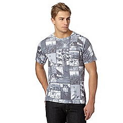 Red Herring - Grey New York collage print t-shirt