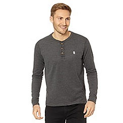 St George by Duffer - Grey jersey grandad top