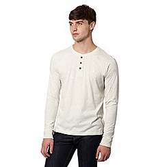 St George by Duffer - Dark cream plain button neck top