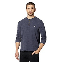 St George by Duffer - Big and tall navy waffle textured top