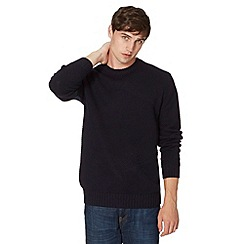 Red Herring - Navy basket weave knitted jumper