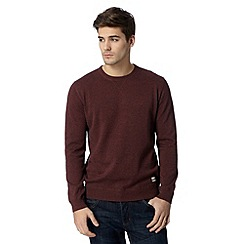 St George by Duffer - Dark red twisted yarn crew neck jumper