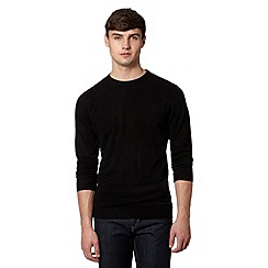 Red Herring - Black plain crew neck jumper