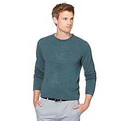 Red Herring - Dark turquoise marled crew neck jumper