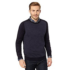 Red Herring - Navy raglan sleeve jumper
