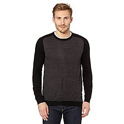 Red Herring - Black raglan sleeve jumper