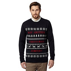 Red Herring - Navy 'Not another Christmas Jumper' jumper