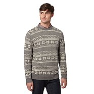 Grey Snowflake Christmas Jumper