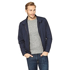 Red Herring - Navy ribbed trim harrington jacket