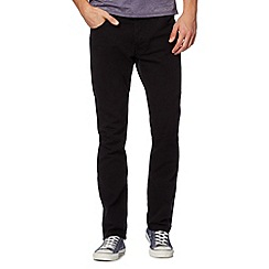 Red Herring - Black raw twill slim fit jeans