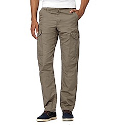 Red Herring - Big and tall big and tall light brown cargo trousers