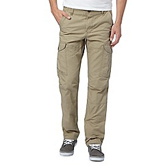 Red Herring - Big and tall natural pocket cargo trousers