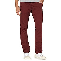 Red Herring - Maroon slim fit chinos