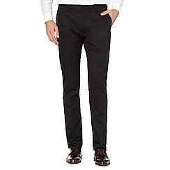 Red Herring - Big and tall black smart chinos