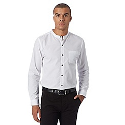 Red Herring - White grandad smart shirt
