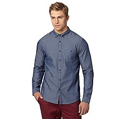 Red Herring - Navy pindot shirt