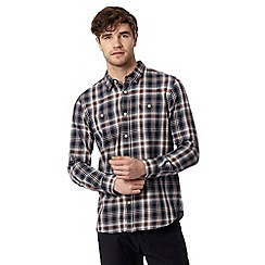 St George by Duffer - Navy checked two pocket shirt