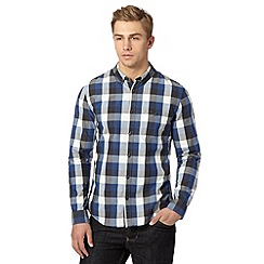 Red Herring - Navy gingham checked shirt