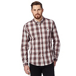 Red Herring - Red checked chest pocket shirt