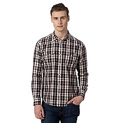 Red Herring - Navy checked long sleeved shirt