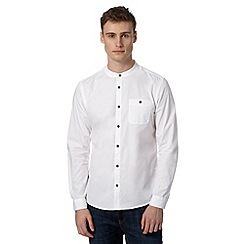 Red Herring - White grandad neck shirt