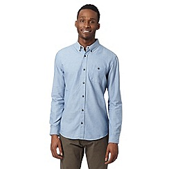 Red Herring - Light blue spot jacquard chambray shirt