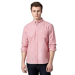 St George by Duffer - Big and tall red long sleeved pocket shirt