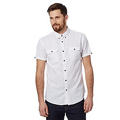 Red Herring - White short sleeved textured shirt