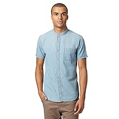 Red Herring - Blue denim grandad shirt