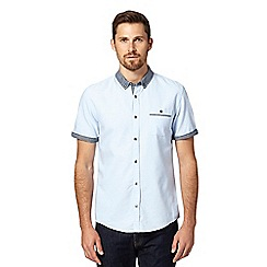 Red Herring - Light blue spotted contrast collar shirt