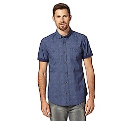 Red Herring - Navy ditsy print shirt